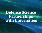 Thumbnail with words 'Defence Science Partnerships with Universities'