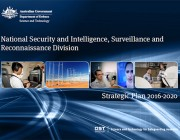National Security and Intelligence, Surveillance and Reconnaissance Division Strategic Plan 2016-2020