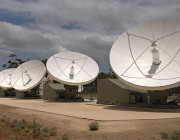 Several satellite dishes.
