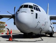 A Royal Australian Air Force C-130J Hercules takes on cargo and fuel at Kandahar Air Field in Afghanistan.