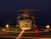 HMAS Darwin's Seahawk Helicopter