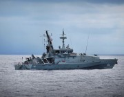 Picture of the Armidale Class Patrol Boat replacement, HMAS Launceston, at sea.