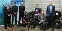 (L-R) Brendan Williams (Boeing/Insitu Pacific), Hasan Acar (AOS), Damen O'Brien (Insitu Pacific), Chatura Nagahawatte (DST), Andrew Lucas (AOS), Andrew Duggan (Insitu Pacific), Simon Ng (DST) during DST Partnerships Week in Melbourne.