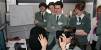 Year 10 students from Eltham College tested out Immersive Visualisation technologies.