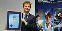 Huon received the DST Early Career Achievement award at a ceremony in Canberra in December 2015.