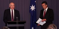 L-R: Deputy Prime Minister Warren Truss with Assistant Minister for Defence Darren Chester.