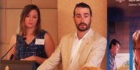 Miguel Neto and Penni Apperly from DST's STEM team field questions from undergraduates earlier this year.