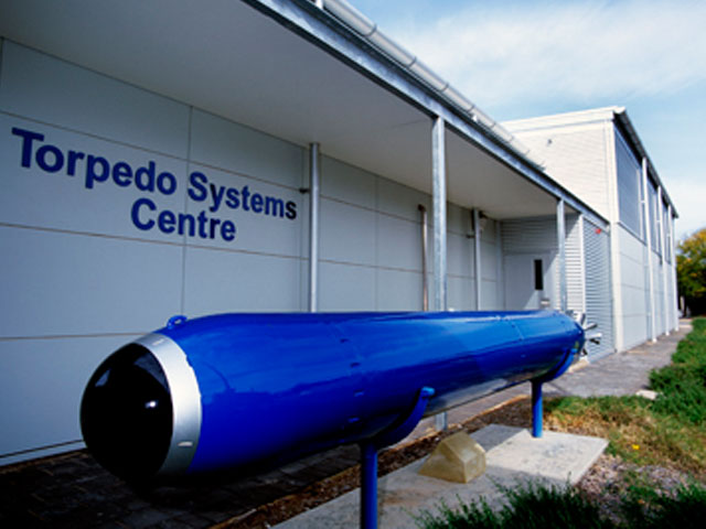 An exterior shot of DST Group's Torpedo Systems Centre.